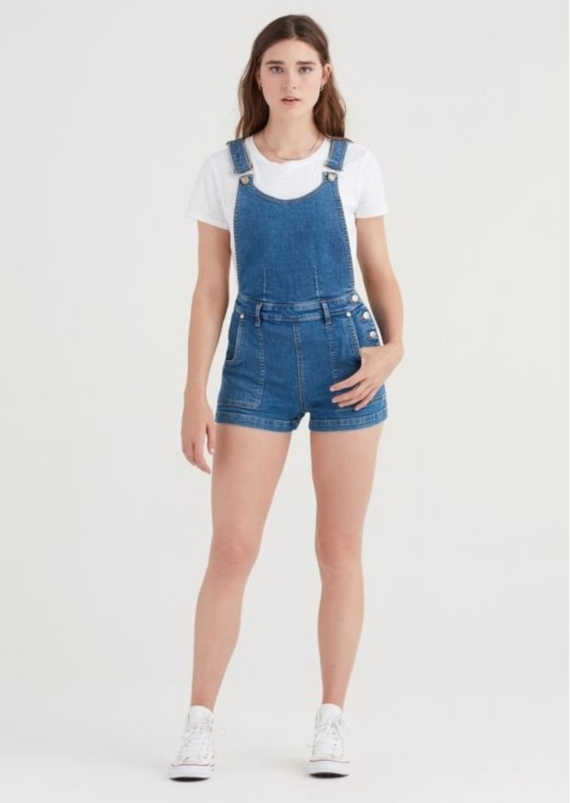 7 For All Mankind Side Button Detail Shortall with Destroy in Heritage Artwalk