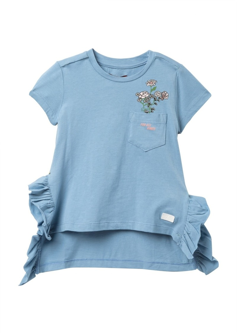 7 For All Mankind Side Ruffle Pocket T-Shirt (Little Girls)