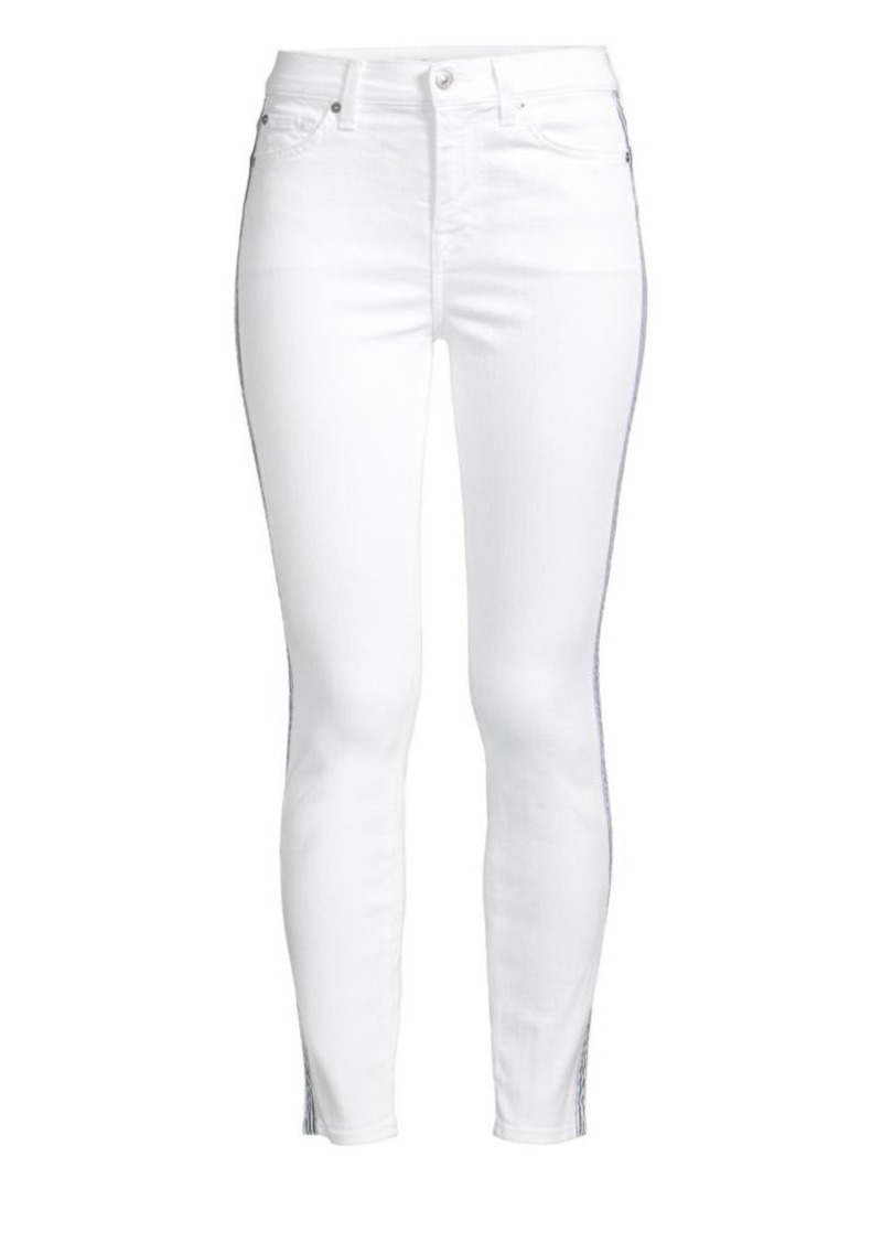 7 For All Mankind Side Stripe Skinny Ankle Jeans
