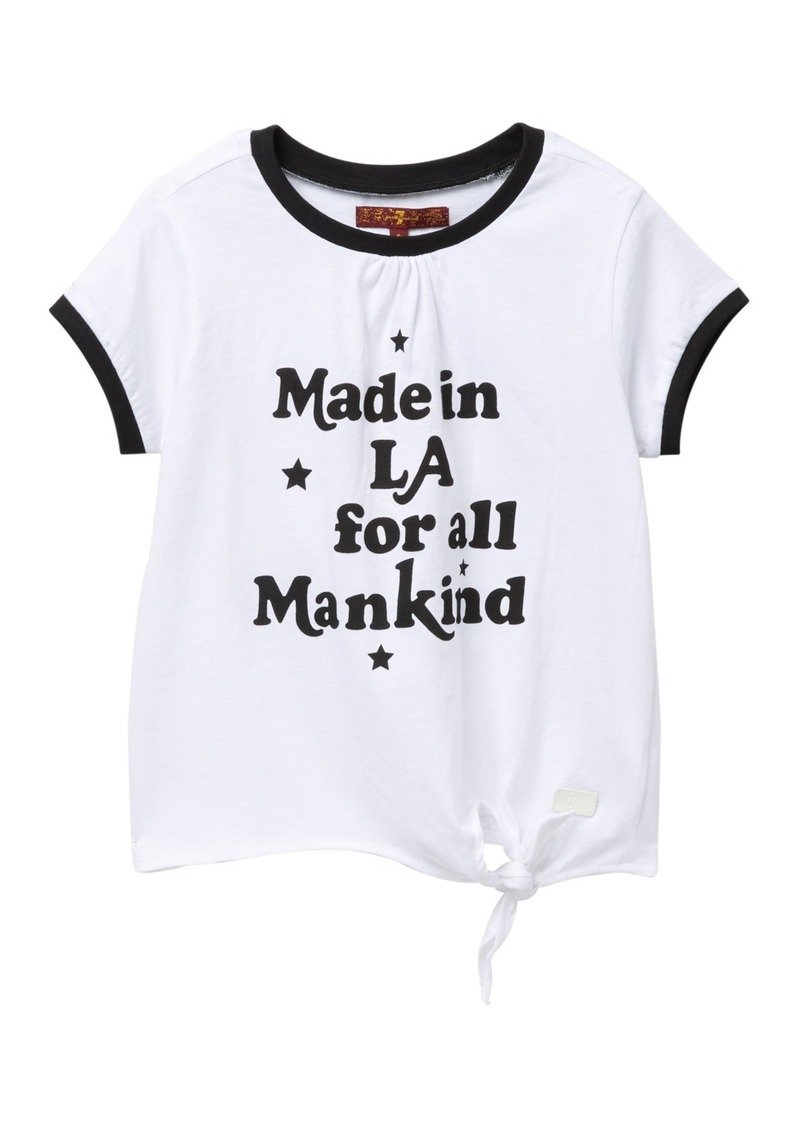 7 For All Mankind Side Tie Ringer T-Shirt (Big Girls)