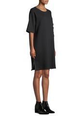 7 For All Mankind Side-Zip Crewneck Tee Dress with Oversize Pocket
