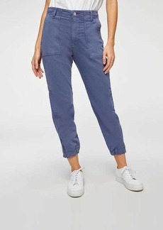 7 For All Mankind Side Zipper Jogger in French Blue