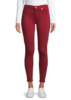 7 For All Mankind Skinny Ankle Colored Jeans