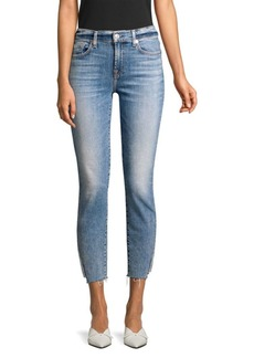 7 For All Mankind Skinny Ankle Slit Jeans