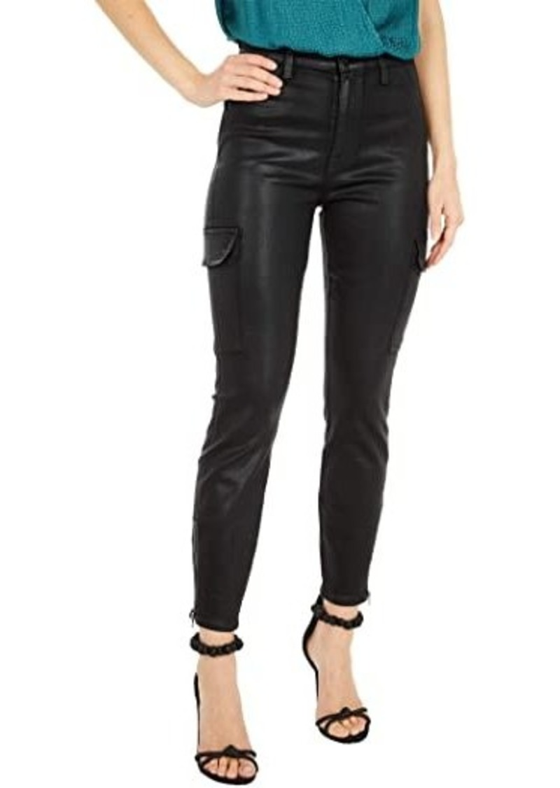 7 For All Mankind Skinny Cargo in Black Coated