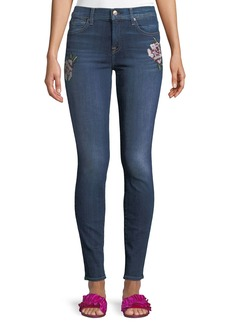 7 For All Mankind Skinny Floral-Patchwork Jeans
