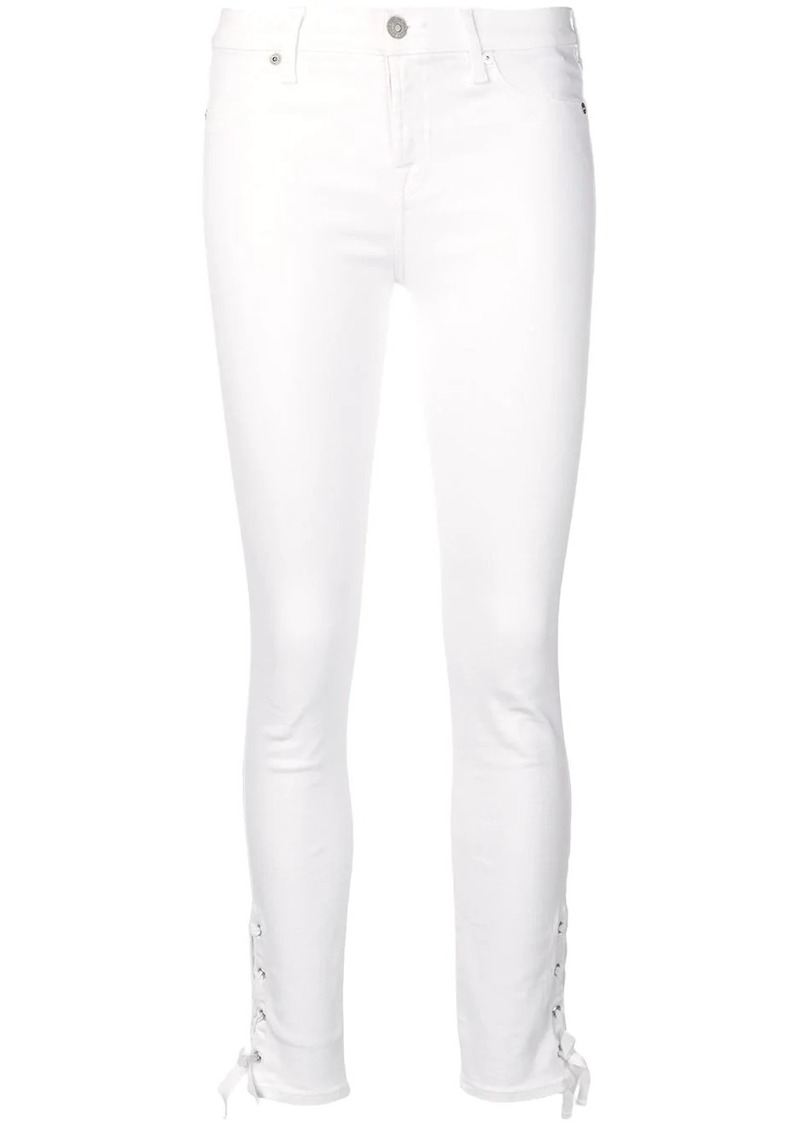 7 For All Mankind skinny side tie jeans