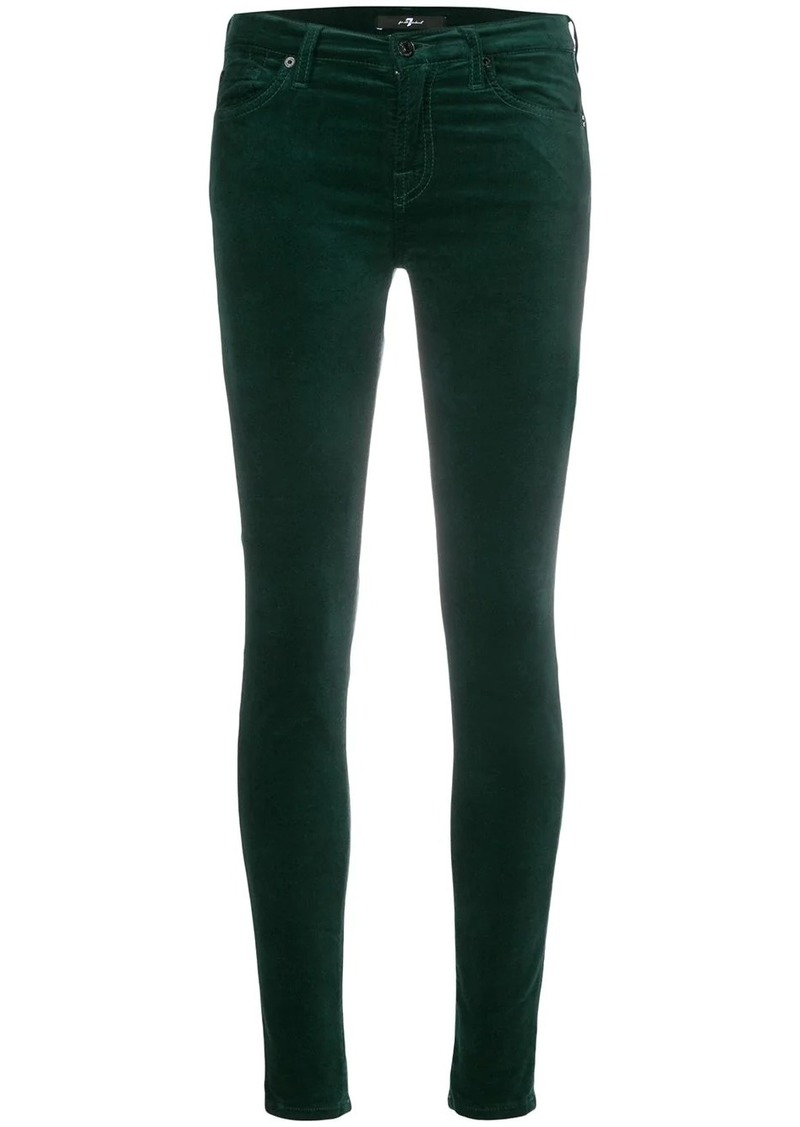 7 For All Mankind skinny velvet trousers