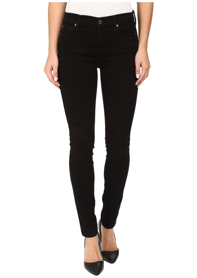 7 For All Mankind Skinny w/ Squiggle in Washed Overdyed Black