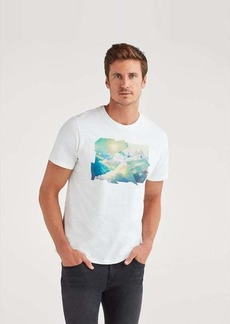 7 For All Mankind Sky Graphic Tee in White