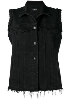 7 For All Mankind sleeveless denim jacket
