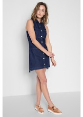 09f0624795 ... 7 For All Mankind Sleeveless Dress with Step Hem in Deep Blue