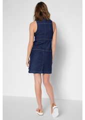 fc362f0453 ... 7 For All Mankind Sleeveless Dress with Step Hem in Deep Blue ...