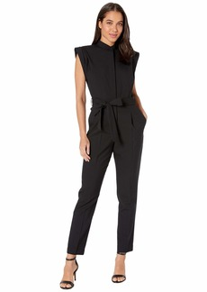 7 For All Mankind Sleeveless Tailor Jumpsuit in Jet Black