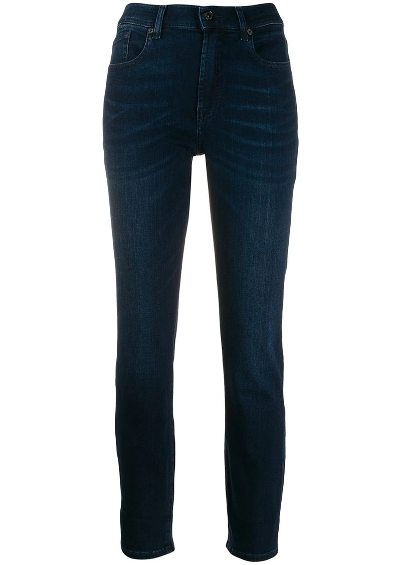 7 For All Mankind slim-fit denim trousers