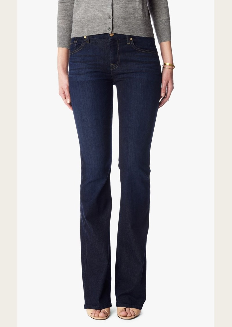 "7 For All Mankind Slim Illusion ""A"" Pocket Flare in Tried & True Blue"