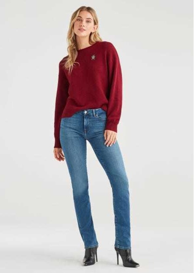 7 For All Mankind Slim Illusion Kimmie Straight in Luxe Love Story