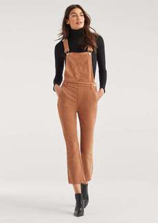 7 For All Mankind Slim Kick Vintage Corduroy Overall in Penny