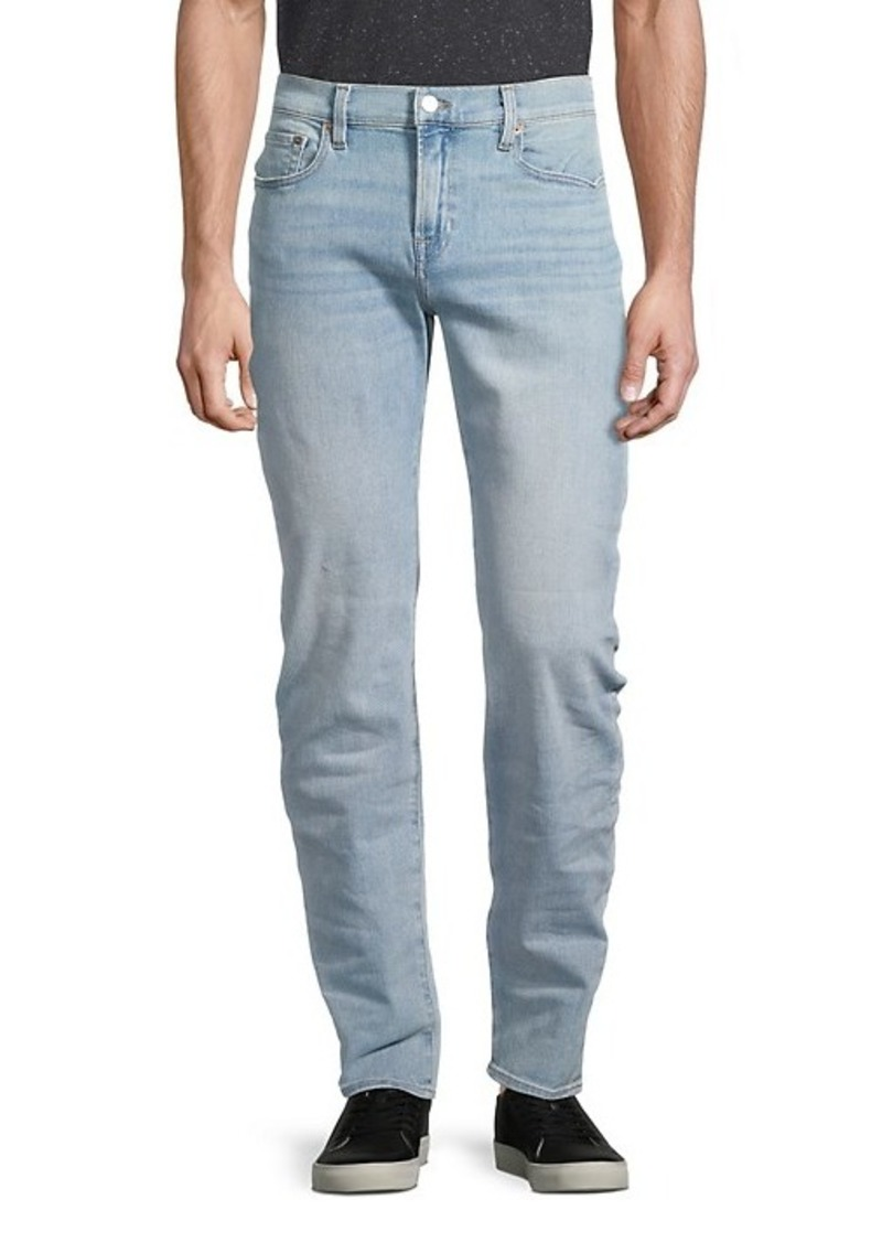 7 For All Mankind Slimmy Slim-Fit Straight-Leg Clean Pocket Jeans