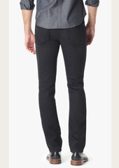 7 For All Mankind Slimmy Slim with Clean Pocket in Rougue Black Knit Denim