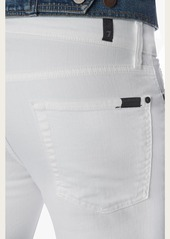 7 For All Mankind Slimmy Slim With Clean Pocket in White Denim