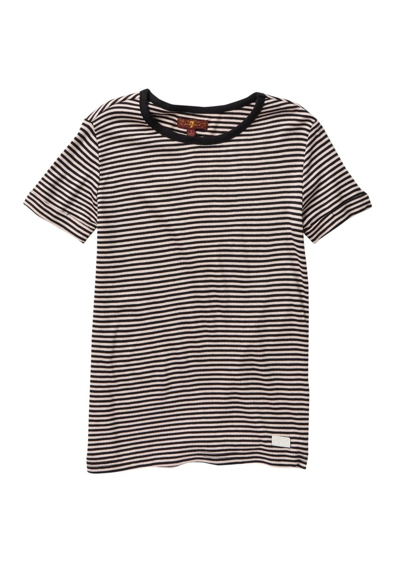 7 For All Mankind Slouchy Boat-Neck Tee (Big Girls)