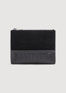 7 For All Mankind Small Mankind Clutch in Black