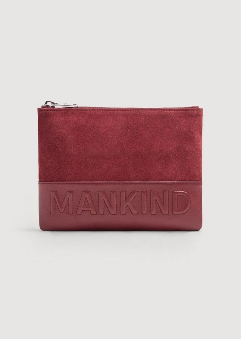 7 For All Mankind Small Mankind Clutch in Burgundy