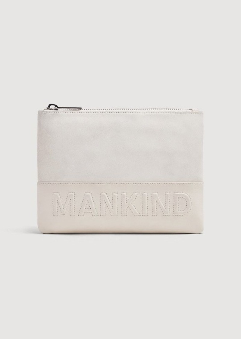7 For All Mankind Small Mankind Clutch in Winter White