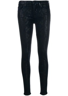 7 For All Mankind snake print skinny trousers