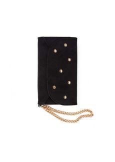7 For All Mankind Sonix Velvet Wristlet iPhone Case in Black