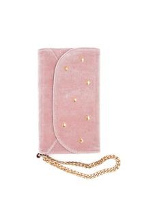 7 For All Mankind Sonix Velvet Wristlet iPhone Case in Rose