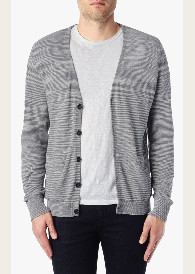 7 For All Mankind Space Dye Cardigan Sweater in Light Grey
