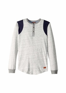 7 For All Mankind Space Dyed Jersey Long Sleeve Henley Pullover (Big Kids)