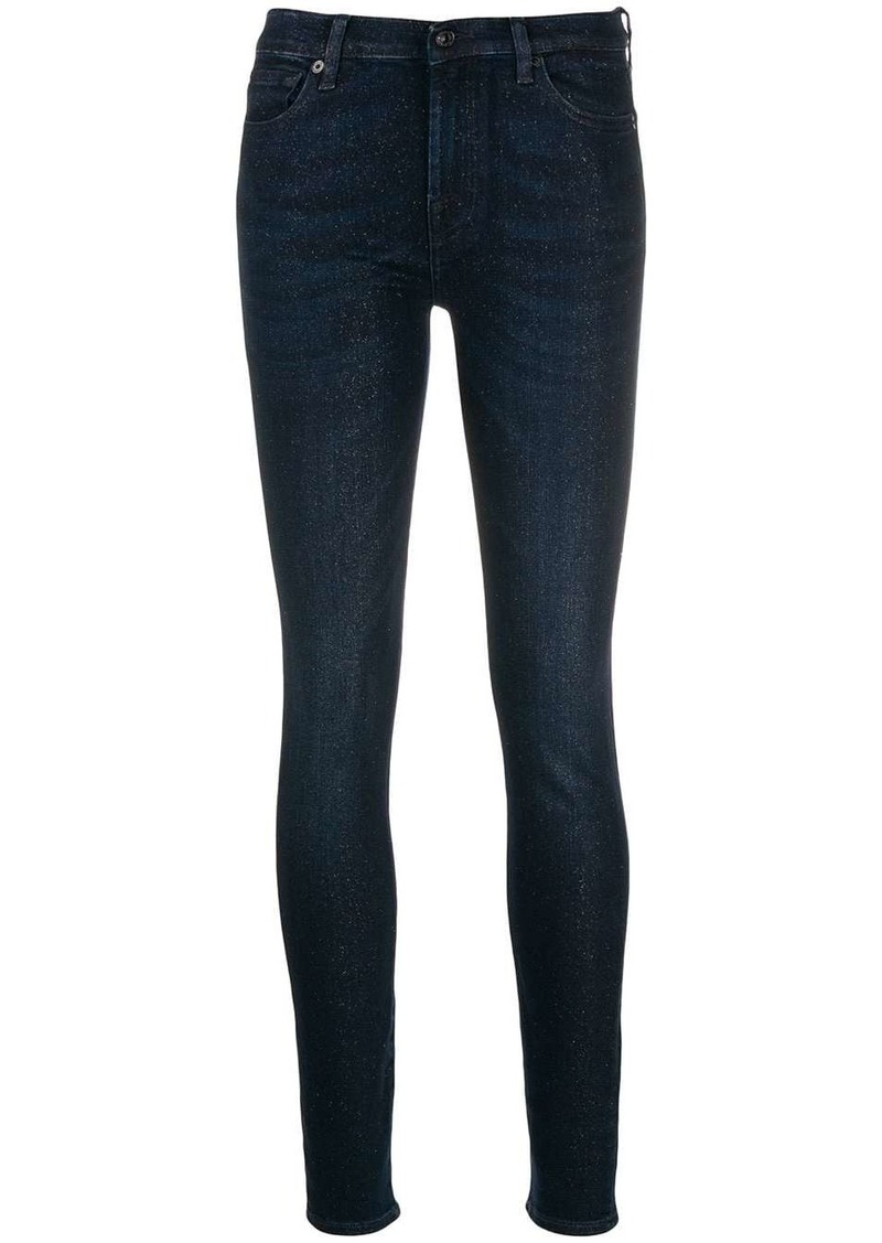 7 For All Mankind sparkle detail skinny jeans