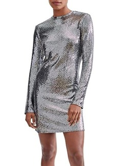 7 For All Mankind Sparkle Long Sleeve Dress
