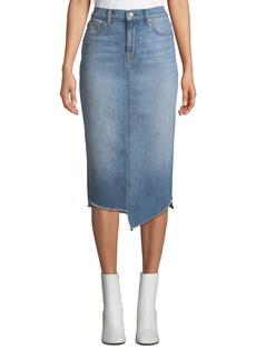 7 For All Mankind Spliced Denim Pencil Skirt