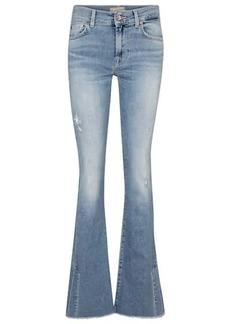 7 For All Mankind Split-hem mid-rise bootcut jeans