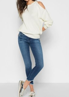 7 For All Mankind Split Sleeve Sweater in Ice Cream