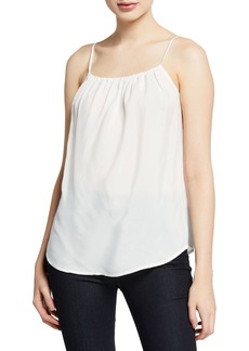7 For All Mankind Square-Neck Shirred Camisole
