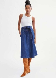 7 For All Mankind St. Tropez Belted Trapunto Skirt