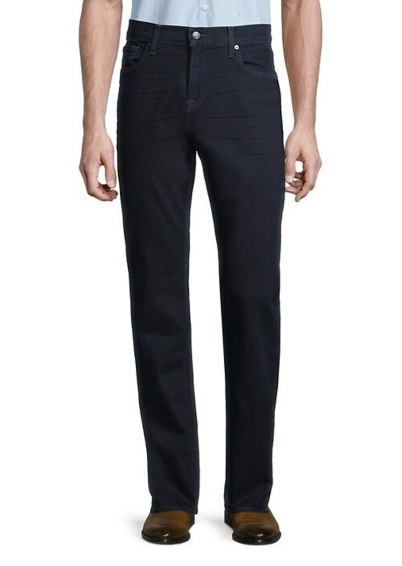 7 For All Mankind Standard Squiggle Straight-Leg Jeans