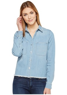 7 For All Mankind Step Hem Denim Shirt in Skyway Authentic Blue