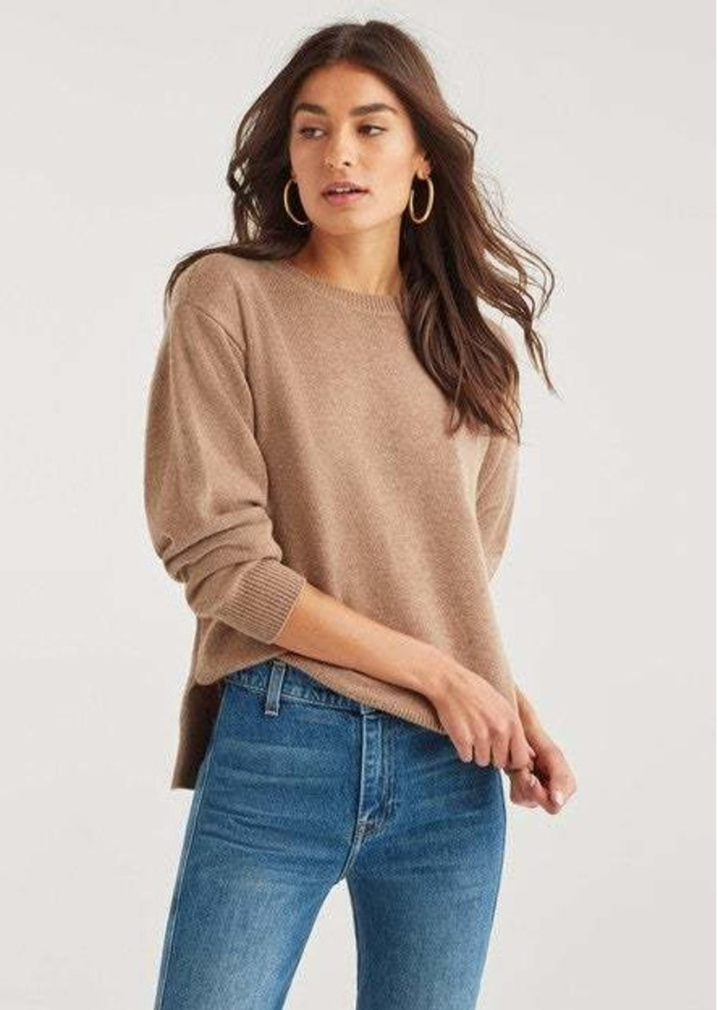 7 For All Mankind Step Hem Pullover Sweater in Camel
