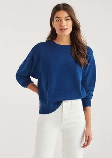 7 For All Mankind Step Hem Pullover Sweater in Indigo