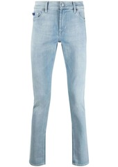 7 For All Mankind stonewashed slim-fit jeans