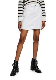 7 For All Mankind Stretch-Cotton Denim Mini Skirt