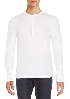 7 For All Mankind Stretch Cotton Henley Tee