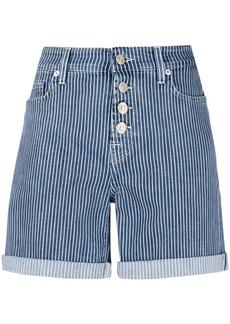 7 For All Mankind stripe print denim shorts