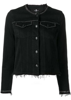 7 For All Mankind studded denim jacket